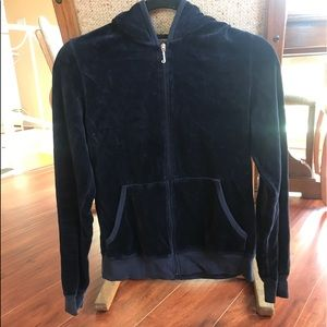 JUICY COUTURE NAVY VELOUR TRACKSUIT JACKET